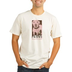 Vintage Best Friend Organic Men's Fitted T-Shirt