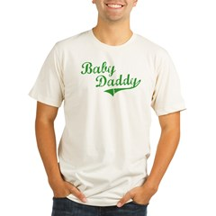 Baby Daddy Old School Style Organic Men's Fitted T-Shirt