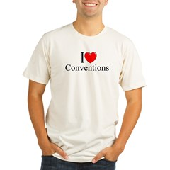 """I Love (Heart) Conventions"" Organic Men's Fitted T-Shirt"