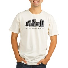 stonehenge_bw_onblk Organic Men's Fitted T-Shirt