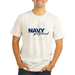 Navy Girlfriend: Sailor's LOV Organic Men's Fitted T-Shirt