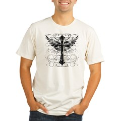 Winged Cross Organic Men's Fitted T-Shirt