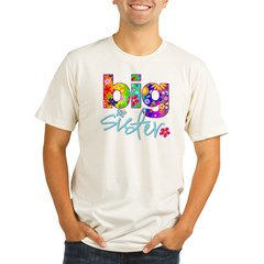 2-big sister flower back Organic Men's Fitted T-Shirt