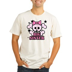 Pink bow skull big sister Organic Men's Fitted T-Shirt