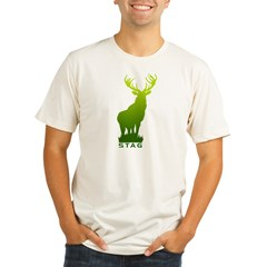 DEER STAG GRAPHIC Organic Men's Fitted T-Shirt