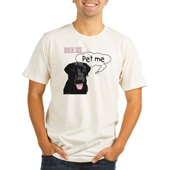 Rose Sez... Pet Me Organic Men's Fitted T-Shirt