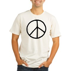Peace Symbol Organic Men's Fitted T-Shirt