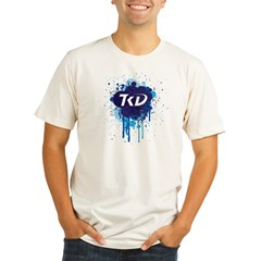 TKD Splatter Blue Organic Men's Fitted T-Shirt