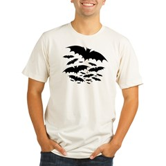 Batty Ash Grey Organic Men's Fitted T-Shirt
