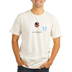 OBAMA12LOGOTTR Organic Men's Fitted T-Shirt
