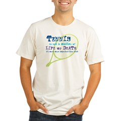 Tennis Life or.... Organic Men's Fitted T-Shirt