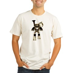 musicrobot_color.jpg Organic Men's Fitted T-Shirt