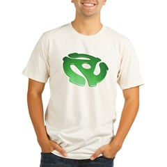 green-3d-45-rpm-adapter-dk Organic Men's Fitted T-Shirt