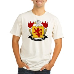 Feilding Family Crest Organic Men's Fitted T-Shirt