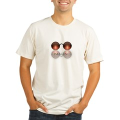 round glasses blk Organic Men's Fitted T-Shirt