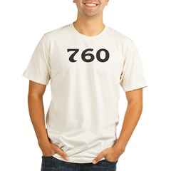 760 Area Code Organic Men's Fitted T-Shirt