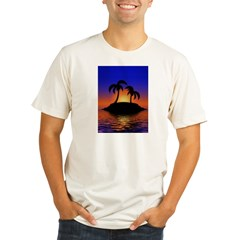 sunrise-sunset--palm-tree-s.jpg Organic Men's Fitted T-Shirt
