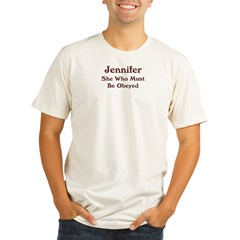Personalized Jennifer Organic Men's Fitted T-Shirt