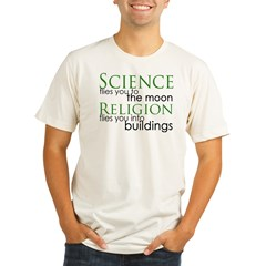 Science and Religion Organic Men's Fitted T-Shirt