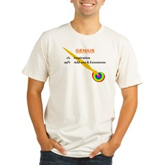 genius.jpg Organic Men's Fitted T-Shirt