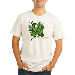 grunge_hops_dark Organic Men's Fitted T-Shirt