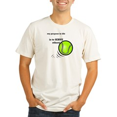 Tennis: Serve Others Organic Men's Fitted T-Shirt