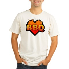 BBQ Love Organic Men's Fitted T-Shirt
