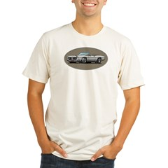 66-67 White / Silver GTO Convertible Organic Men's Fitted T-Shirt