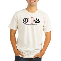 peace love adoption.001 Organic Men's Fitted T-Shirt