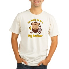 Monkey Future Big Brother Organic Men's Fitted T-Shirt