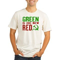 Green is the New Red Organic Men's Fitted T-Shirt