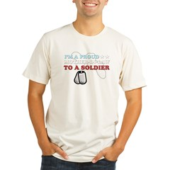 Proud MIL to a Soldier Organic Men's Fitted T-Shirt