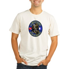 NAVY DIVER Organic Men's Fitted T-Shirt