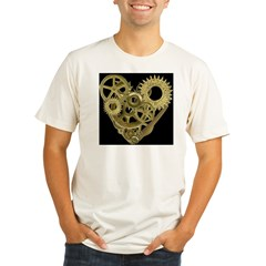 Women's Steampunk Heart T-Shirt (black) Organic Men's Fitted T-Shirt