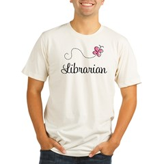 Cute Librarian Organic Men's Fitted T-Shirt