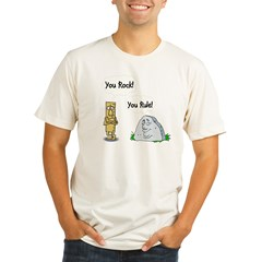 You Rock You Rule Organic Men's Fitted T-Shirt