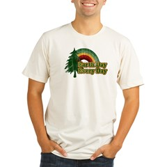 Earth Day Every Day Retro Organic Men's Fitted T-Shirt