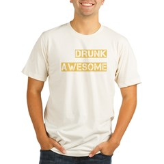 drunk awesome_dark Organic Men's Fitted T-Shirt