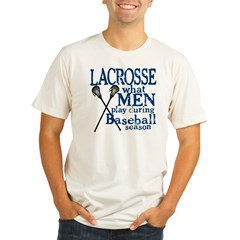 Men Play Lacrosse Organic Men's Fitted T-Shirt