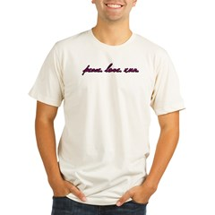 Peace Love Run Organic Men's Fitted T-Shirt