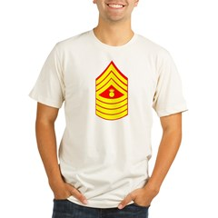 USMC Retired <BR>Master Gunnery Sergeant Organic Men's Fitted T-Shirt