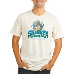 Sharky's Seaside Bar Organic Men's Fitted T-Shirt