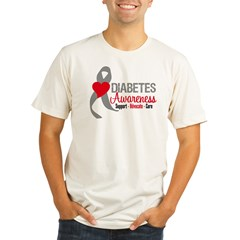 Diabetes Heart Ribbon Organic Men's Fitted T-Shirt
