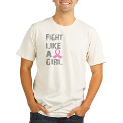 Fight Like A Girl Breast Cancer D 21.8 Organic Men's Fitted T-Shirt