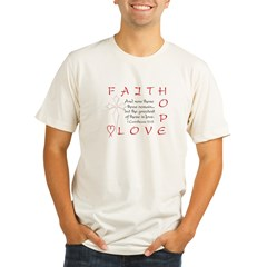 Greatest Is Love Organic Men's Fitted T-Shirt