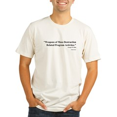 Bush Quote on WMD Organic Men's Fitted T-Shirt