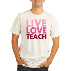 Live Love Teach Organic Men's Fitted T-Shirt