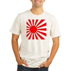JAPANESE RISING SUN FLA Organic Men's Fitted T-Shirt