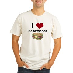 i love sandwiches Organic Men's Fitted T-Shirt