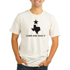 Come and Take It Slogan Organic Men's Fitted T-Shirt